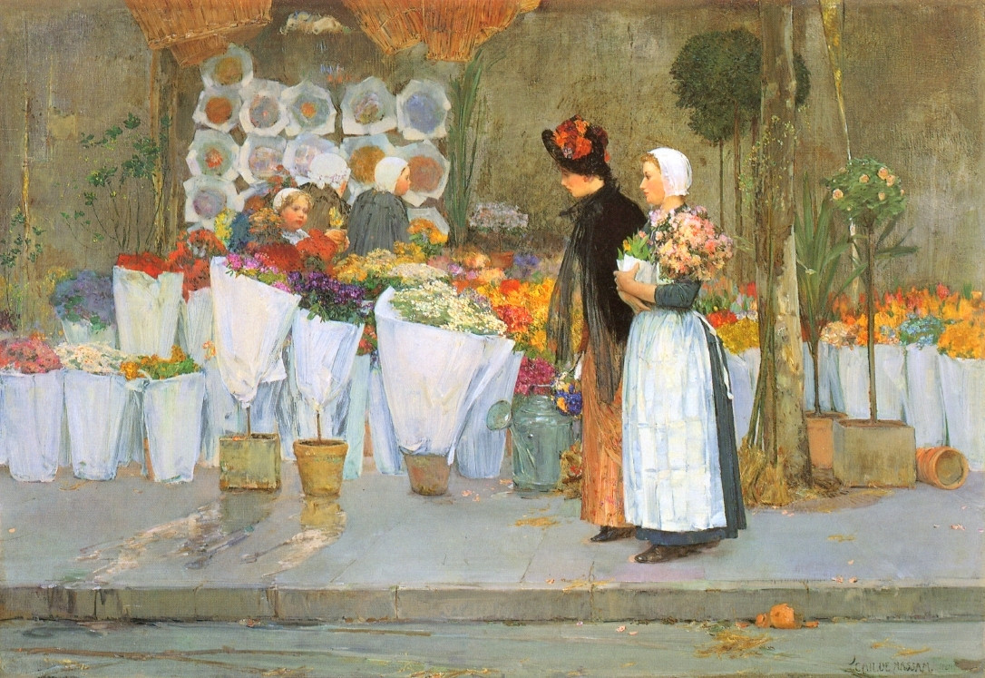 At the Florist, 1889 Childe Hassam
